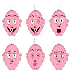 Same face with different emotions vector