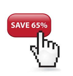 Save 65 Button vector image