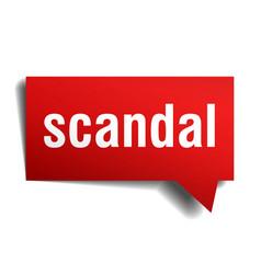 Scandal red 3d speech bubble vector