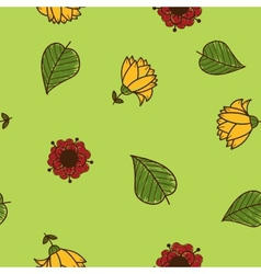 Seamless flowers pattern Sketch design elements vector image