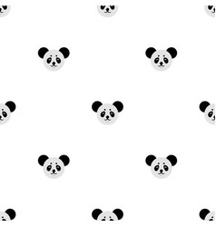 seamless pattern with cute panda for design web vector image