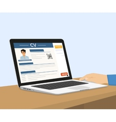 Sending CV via e-mail vector image