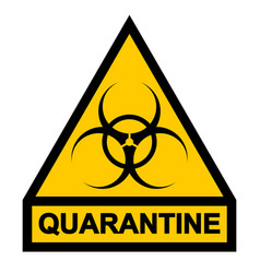 Sign symbol quarantine zone area stop novel vector