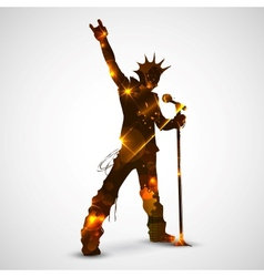 Singing Rock Star vector image