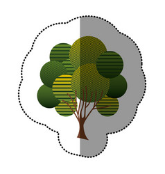 Stamp creative tree icon vector