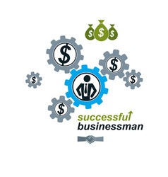 successful businessman creative logo conceptual vector image