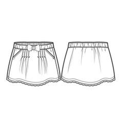 Summer skirt vector