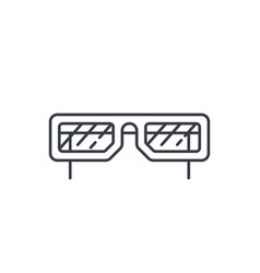 sun glasses thin line icon linear symbol vector image