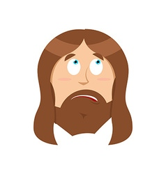 Surprised Jesus Christ perplexed Gods son vector image