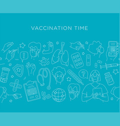 time for vaccination patients at doctor vector image