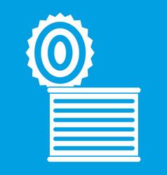 tincan icon white vector image