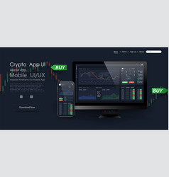 trade ui great design for any purposes trade vector image