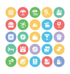 Travel Icons 10 vector