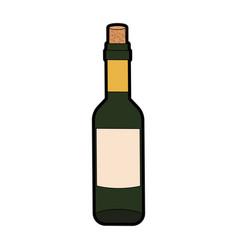 wine bottle isolated vector image