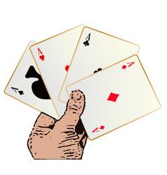 Winning hand vector