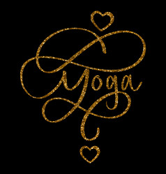 yoga concept inscription typography design logo vector image