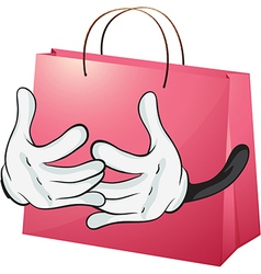 A red bag vector image vector image