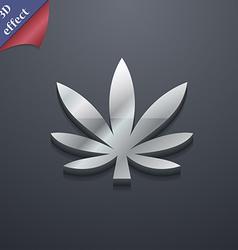 Cannabis leaf icon symbol 3d style trendy modern vector