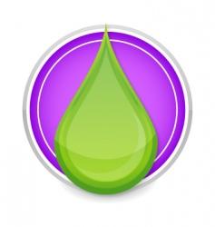 green drop icon vector image vector image