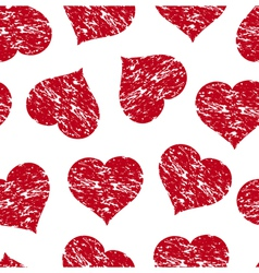 heart grunge pattern vector image vector image