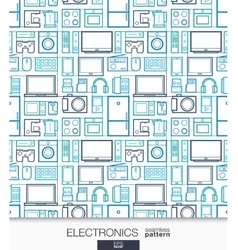 Home Electronics wallpaper Digital shop seamless vector image vector image