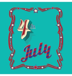 Independence Day 4 th July vector image vector image