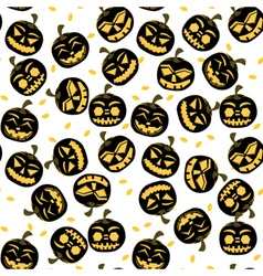 Seamless Pattern with Halloween Pumpkins vector image vector image