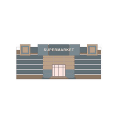 shops stores and supermarket buildings flat vector image vector image
