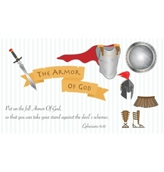 The Armor of God Christianity Love Jesus Christ vector image