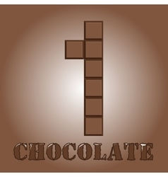 The number of bars chocolate One vector image