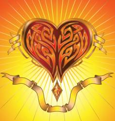abstract glowing heart vector image vector image
