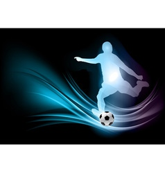 soccer player abstract vector image vector image