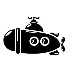 submarine sea icon simple black style vector image