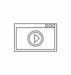 Video movie media player icon outline style vector image vector image