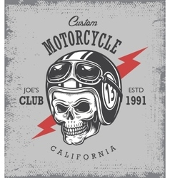 Vintage motorcycle print vector image vector image