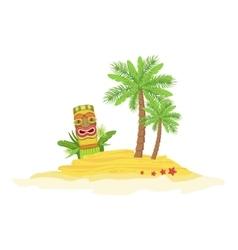 Beach Hawaiian Vacation Classic Symbol vector image