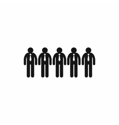Business team icon simple style vector image
