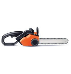 chainsaw isolated on white 3d vector image