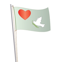 flag with heart vector image