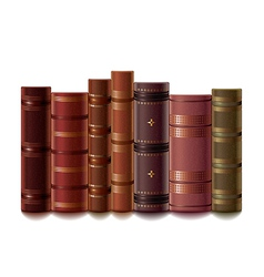 Old books isolated vector
