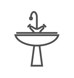 sink line icon vector image