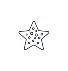 starfish thin line icon linear symbol vector image