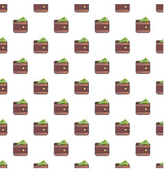 wallet pattern vector image