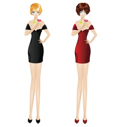 Women with Martini vector image