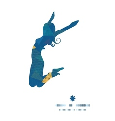 Abstract fabric triangles jumping girl vector
