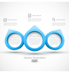 Blue circle banners 3D vector image vector image