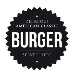 Burger vintage black stamp vector
