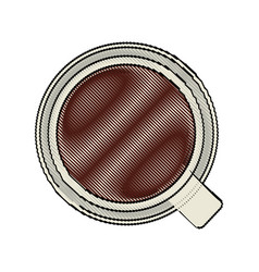 color blurred stripe of top view cup of coffee vector image