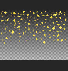 golden objects falling stars vector image