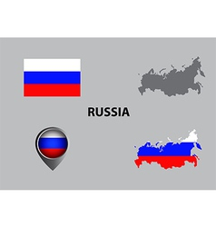 Map of Russia and symbol vector image vector image
